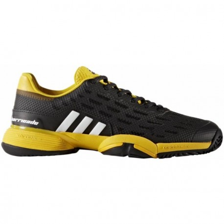 new products e6db5 63f41 Adidas Barricade All Court Junior BlackYellow - Withers Spor