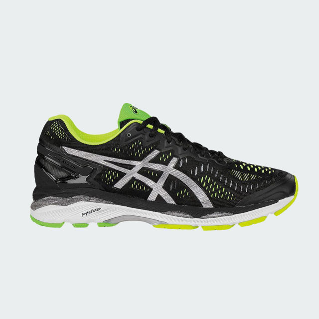 Asics Gel Kayano 23 BlackSilverSafety Yellow