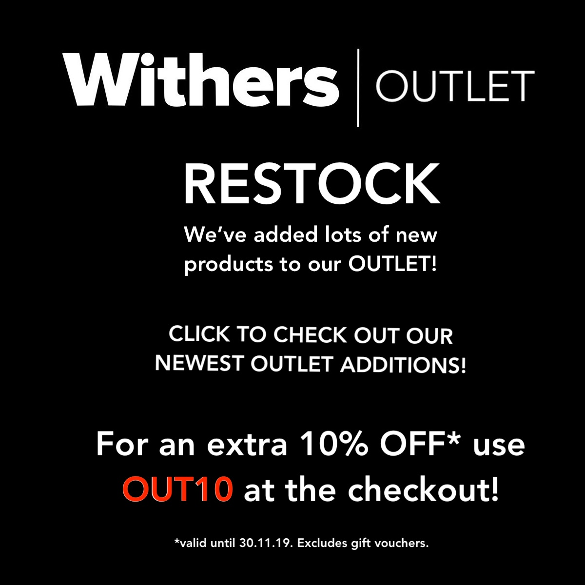 Withers Outlet Restock