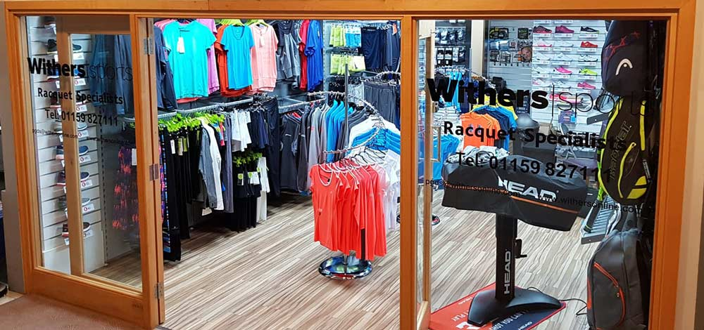 Withers Sports shop at David Lloyd West Bridgford