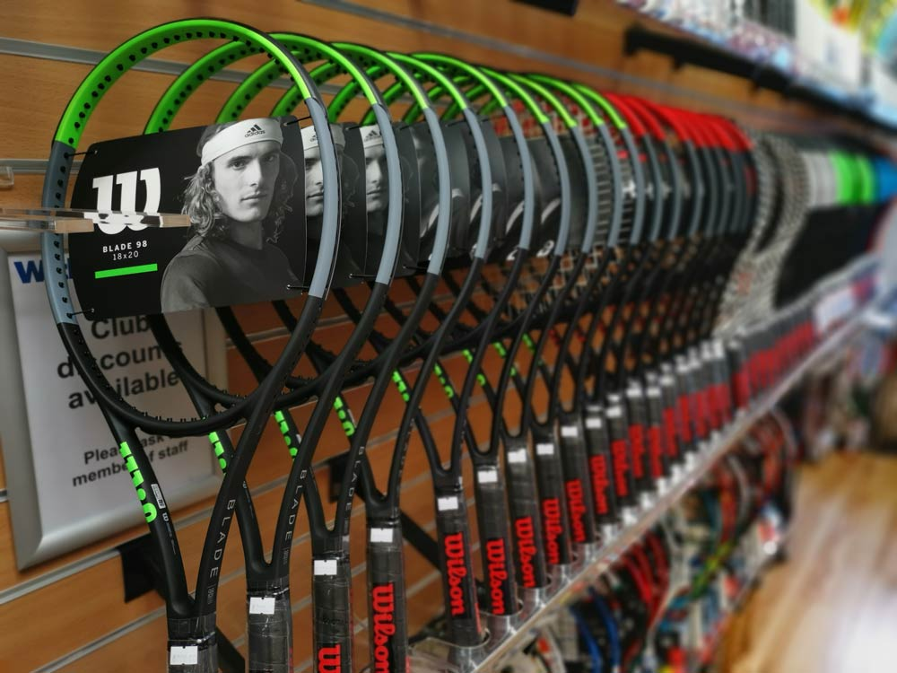 Blade v7 Rackets made by Wilson, sold by Withers