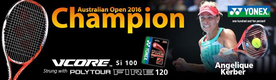 Yonex VCore - Angelique Kerber wins Aussi Open 2016